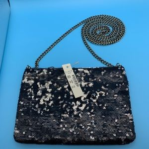 J. Crew Factory Mini Sequin Chain Purse